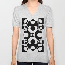 Black and white reversed Unisex V-Neck