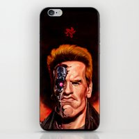 terminator iPhone & iPod Skins featuring The Terminator by UTHZEN