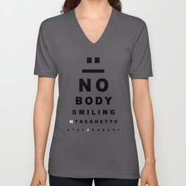 Nobody Smiling 20/20 Vision - Oreo Unisex V-Neck