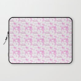 Be my Valentine. Pink seamless background with hearts and text on a white Laptop Sleeve