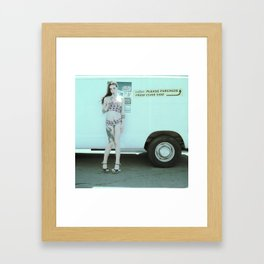 Ice Cream Popcicle Chola Framed Art Print