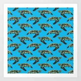 The Hawksbill Turtle Art Print