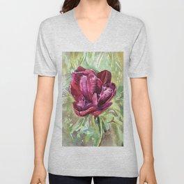 Black Tulip Unisex V-Neck