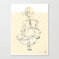 yoga Canvas Prints featuring Yoga by Timoismen