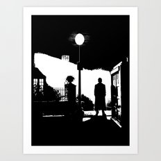 The Exorcist movie poster parody of Doctor Who 10th Art Print