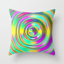 Pastel Swirl Throw Pillow