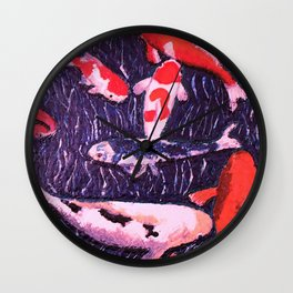 the lucky koi Wall Clock