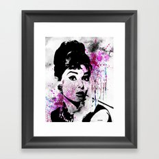 Audrey Hepburn - Watercolor Framed Art Print