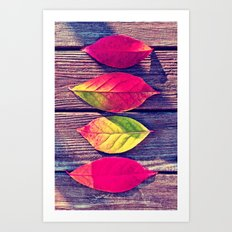 Autumn Leaves - for iphone Art Print