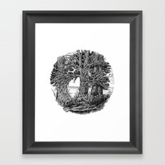 Trees and river Framed Art Print