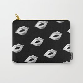 Black & White Lips Carry-All Pouch