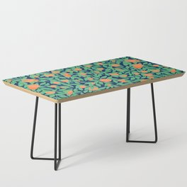 Oranges and Leaves Pattern - Navy Blue Coffee Table