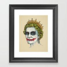 God Save the Villain! Framed Art Print