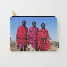 3 African Men from the Maasai Mara Carry-All Pouch