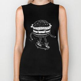 Cucumburger. Cucumber Burger on skateboard Biker Tank