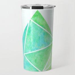Ziggy: Watercolor Triangle Travel Mug