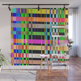 inclined coloured stripes Wall Mural