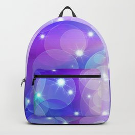 Purple Pink And Blue Sparkles - Abstract Bubbles Pattern - Magic / Christmas / Winter / Snow Backpack