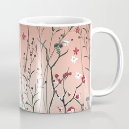 Floral, Rose Gold Sky Coffee Mug