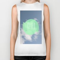 cloud Biker Tanks featuring CLOUD by Jackson Todd