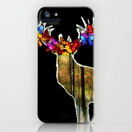 Flower deer iPhone Case