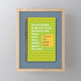 Great books like you Framed Mini Art Print