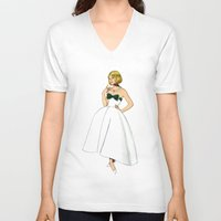emerald V-neck T-shirts featuring Emerald by Tom Tierney Studios