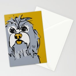 Lulz - gray/yellow Stationery Cards