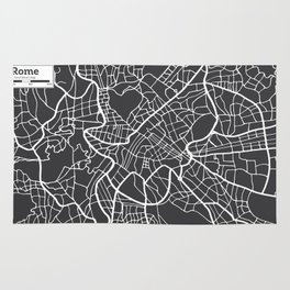 Rome Map in Retro Style. Hand Drawn. Rug