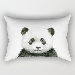 Baby Panda Watercolor Rectangular Pillow