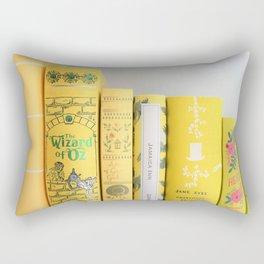 Shelfie in Yellow Rectangular Pillow