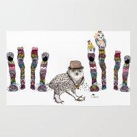 saga Area & Throw Rugs featuring Department Store Saga by Olive Primo Design + Illustration