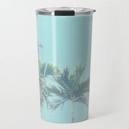 pastel palm trees Travel Mug