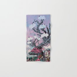 Journeying Spirit (deer) sunset Hand & Bath Towel