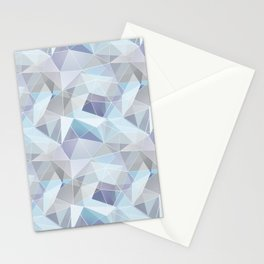Broken glass in blue. Stationery Cards