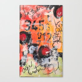 The Numbers Game Canvas Print