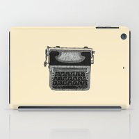 typewriter iPad Cases featuring Typewriter by Mr. Gentle