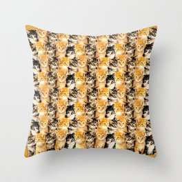 Kittywall Throw Pillow
