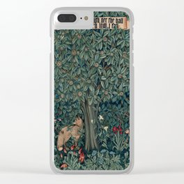 William Morris Greenery Tapestry Clear iPhone Case