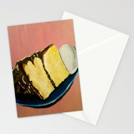 YELLOW CAKE AND ICE CREAM Stationery Cards