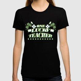 One Lucky Teacher St. Patricks Day Gift T-shirt