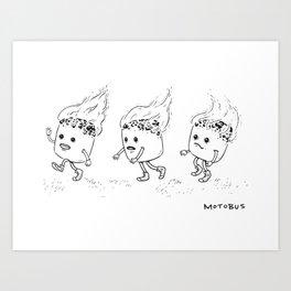 Marshmallow Run Art Print