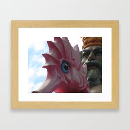 The King of the Seahorse Framed Art Print