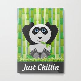 Panda Chillin Metal Print