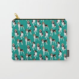 Treeing Walker Coonhounds on Teal Carry-All Pouch