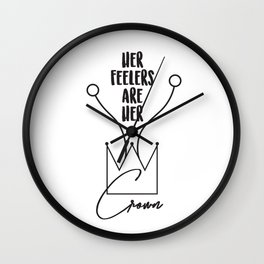 Her Feelers Are Her Crown Wall Clock