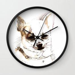 Chihuahua Watercolor Wall Clock