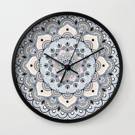 Nordic Pastel Mandala Wall Clock