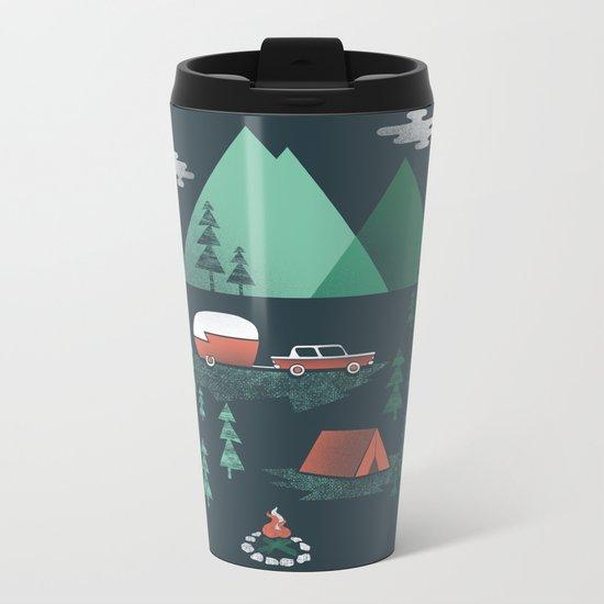 Pitch a Tent Metal Travel Mug