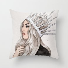 Silver Blonde Throw Pillow